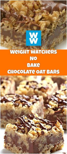 EASY NO-BAKE CHOCOLATE OAT BARS | weight watchers cooking