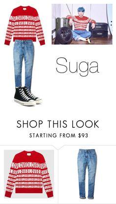 """BTS Suga Love Yourself"" by madummachado on Polyvore featuring moda, Gucci, Calvin Klein, Converse, Loveyourself, bts, Suga e polyvorefashion"