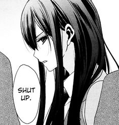 "Anime Girl. Manga. Yuri. ""Shut Up."""
