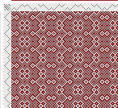 draft image: Threading Draft from Divisional Profile, Tieup: Crackle Design Project, Draft #13503, 8S, 8T