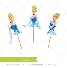 Cinderella Cupcake Toppers Princess Cinderella Disney Princess