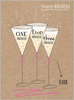 Everyday Ranges » M1507 » Birthday Prosecco - Clare Maddicott Publications - Greeting cards, gift wrap & stationery