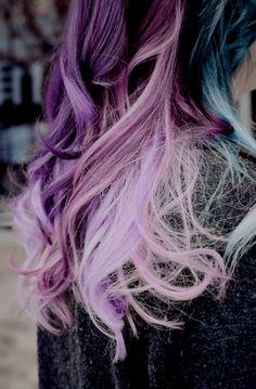 multicolored hair.