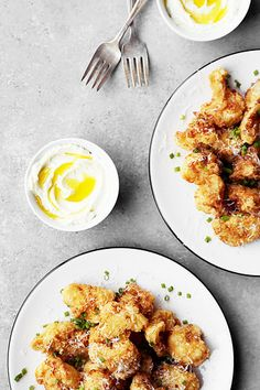 Fried Cauliflower with Whipped Feta