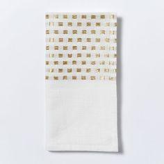 Embroidered Dot Napkin, Set of 4, Gold