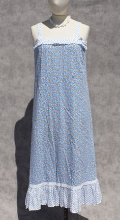 70s blue floral sundress by StarShineVintage on Etsy, $39.00