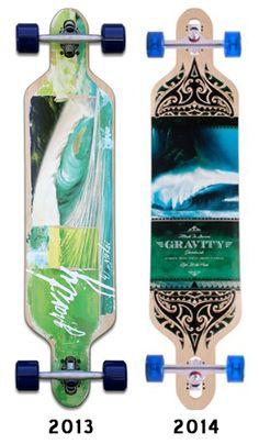 Gravity Olas Azules Longboard Skateboard Complete