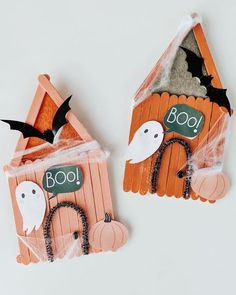 Theme Halloween, Halloween Crafts For Kids, Diy Halloween Decorations, Halloween House, Holidays Halloween, Fall Crafts, Holiday Crafts, Holiday Fun, Happy Halloween