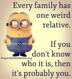 Here we have 25 of the best minion quotes about family. We have the perfect family minion quotes for every family. Humor Minion, Despicable Minions, Funny Minion Memes, Minions Love, Minions Quotes, Funny Jokes, Hilarious, Minion Sayings, Minion Stuff