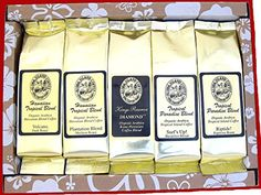 Kona Hawaiian Coffee Gift Sampler for Mothers Day, Fathers Day, Birthdays, All Occasions, Our… Tea Gifts, Coffee Gifts, Coffee Mugs, Kona Coffee, Best Coffee, Hawaiian Coffee, Wholesale Coffee, Fair Trade Coffee, Blended Coffee