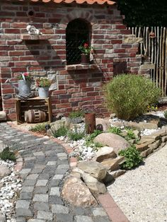 Garten - Paths, Pavers, Pebbles and Much more! -Deko Garten - Paths, Pavers, Pebbles and Much more! Indoor Garden, Outdoor Gardens, Modern Front Yard, Mediterranean Garden, Yard Design, Small Gardens, Curb Appeal, Pergola, Backyard