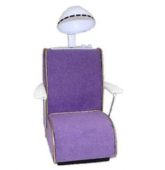 MINIATURE Lavender Beauty Salon Dryer Chair Handcrafted for Dollhouse