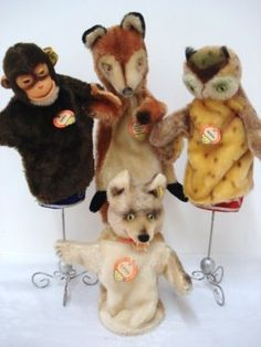 Steiff Puppets. Steiff, stuffed with excelsior and covered in beautiful silky mohair.