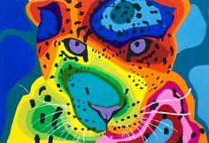 """Jaguar ~ gouache ~ July 2015 9""""x 6"""" https://www.facebook.com/stephaniecwilsonpaintings"""
