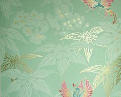 tienda online telas & papel | Papel pintado Grove Garden verde menta