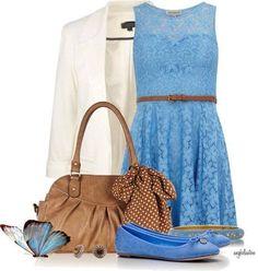 Blue lace outfit