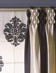 Risultati immagini per cortinas para ventanas grandes Home Curtains, Custom Curtains, Curtains With Blinds, Window Curtains, Valances, Bedroom Curtains, Curtain Inspiration, Rideaux Design, Curtain Headings