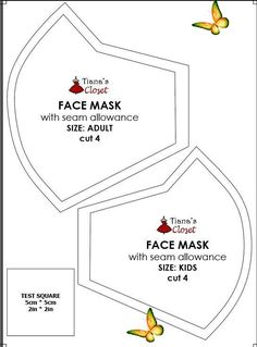 Sewing your own face mask to protect yourself from the coronavirus pandemic (wit... -  Sewing your own face mask to protect yourself from the coronavirus pandemic (with pattern and photo sewing instruction) #diy #facemask #facemaskdiy #facemaskpattern Source by 0t7wf3wz3f9jomp  -<br> Sewing Patterns Free, Free Sewing, Free Pattern, Pattern Sewing, Diy Mask, Diy Face Mask, Face Masks, Filter, Kids Cuts