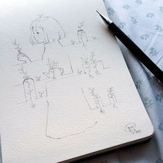 """""""Sketching on bed. """""""