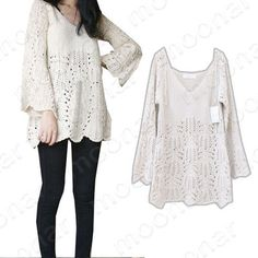 Women Floral Hollow V Neck Sweatercoat Dress Fitted Render Knitted Tops Ruffle