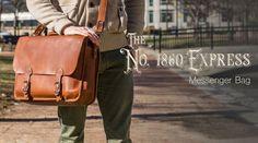 The No. 1860 EXPRESS - Fine Leather Messenger Bag & Mens Briefcase
