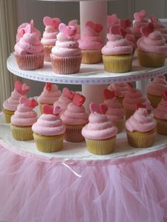 Cupcakes with a romantic touch! - maybe just for the bridal shower - who am I kidding I will just have french fires and ice cream cake . . . clam down I am only kidding !