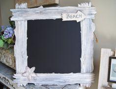 To The Beach Faux Driftwood Kitchen Chalkboard http://zeezeechalkboards.blogspot.ca
