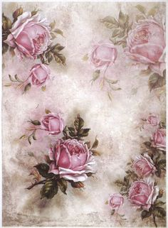 of sheet ) Luxury Craft Decoupage Rice Paper. Very thin and durable white paper is excellent for decoupage. Each sheet measures 297 x 420 mm ( Proven suitable printing technique makes the color stay clean. Floral Vintage, Vintage Diy, Vintage Paper, Vintage Flowers, Decoupage Vintage, Paper Napkins For Decoupage, Color Rosa, Printable Paper, Craft Ideas