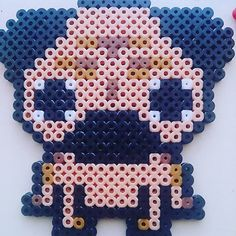 Pug dog hama beads by tatizloka