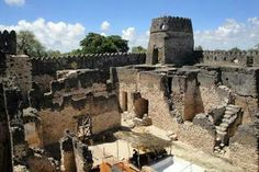 Swahili fort in Kilwa, Tanzania   This fort was originally built by the Swahili around 1050 ce.  The Swahili built many forts along the East African coast since ancient times when they were a part of the extended Red Sea trade with Ethiopia and Egypt before it expanded to the whole Indian Ocean.  The Kilwa fort was taken by the Portuguese in 1505, but the Swahili retook it a few years later.  Nonetheless, European historians try to appropriate this as a Portuguese fort.