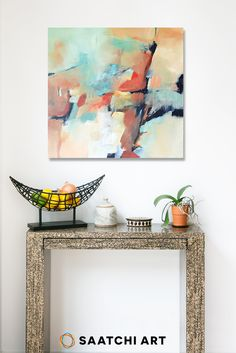 Liven up your living space with a well placed abstract painting. Artwork ties the room together and brings out the nuanced colors in the rest of your d�cor. Check out Saatchi Art's large selection of artwork for your entryway.