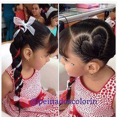 Más de las bellas #trenzas y #peinados para el día de #sanvalentin en #colorin #peluqueria #cucuta #trança #tresses #treccia #braids #braid #hair #girls