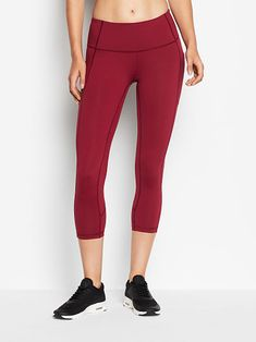 5487eb4099ef6 Knockout by Victoria Sport Mid Rise Pocket Capri - Victoria Sport - Victoria's  Secret