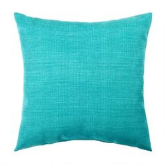 One of my favorite discoveries at ChristmasTreeShops.com: Solid Turquoise Indoor/Outdoor Square Throw Pillow