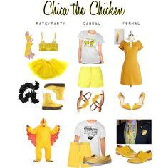 Chica the Chicken by ineeda on Polyvore featuring moda, Petit Bateau, Mimi Holliday by Damaris, Vans, Maison Margiela, Nicole, Jimmy Choo, Vilebrequin and Dr. Martens