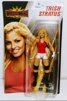 Trish Stratus WWE action figure brand new Undertaker Brock Lesnar, Wwe Money, Trish Stratus, Wwe Toys, Wwe Action Figures, Rodeo Outfits, Sideshow Collectibles, Wwe Divas, Champs