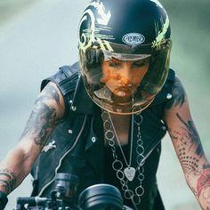 PH @de_ranieri_simone #premier #rockandroll #motorcycle #life #love #helmet #woman #tattoo #black #biker #caferacer #start #photooftheday #instamotogallery #instagood #followme #tagsforlikes #tattoos #me #love #style #cool #Regram via @frenchissima