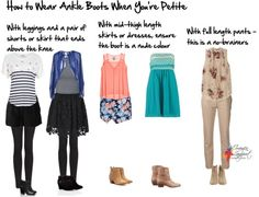 How to wear ankle boots when you're petite http://www.insideoutstyleblog.com/2014/06/how-to-wear-ankle-boots-when-youre-short.html