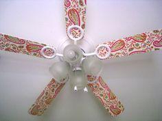 Decoupaged Ceiling Fan