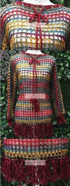 Jersey Granate tejido. // Beautiful garment knitted.