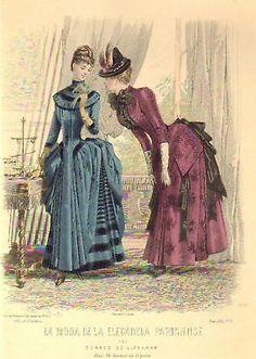 La Moda de la Elegancia Parisiense 1885