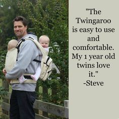 The Twingaroo Carrier Is Easy To Use And Comfortable My 1 Year Old Twin CarrierTwin First BirthdayTwin OutfitsBaby PresentsBaby