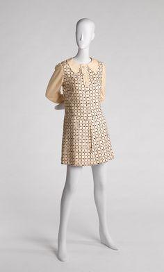 Emanuel Ungaro Dress - French ca. 1968 Printed wool. RISD MUSEUM