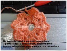 Scorzo Tricroche: Calça de bebê de crochê com um único square octogonal - PAP