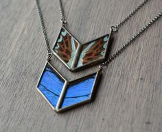Chevron Necklaces (Graphium milon and Bue Mountain Butterfly) - HartVariations 2014