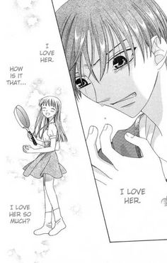 I cried when I read this part! he admitted being in love with her c: after every thing they have been through..even though in the anime this doesn't happen and the ending is different... that made me kinda upset.