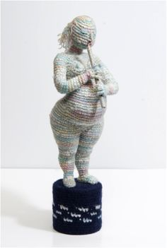 In Conversation with Yulia Ustinova, Soft Sculptor Knit Art, Crochet Art, Crochet Woman, Crochet Animals, Free Crochet, Crochet Patterns, Russian Crochet, Textile Sculpture, Soft Sculpture