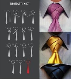 Incredible and stylish knot on a tie. Sure to be noticed!