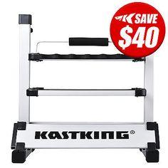 "KastKing ""Rack 'em up"" Fishing Rod Holder Portable Aluminum 12 Fishing Rod Rack"