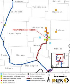 EnLink Midstream's Proposed New Condensate Pipeline in the Ohio River Valley